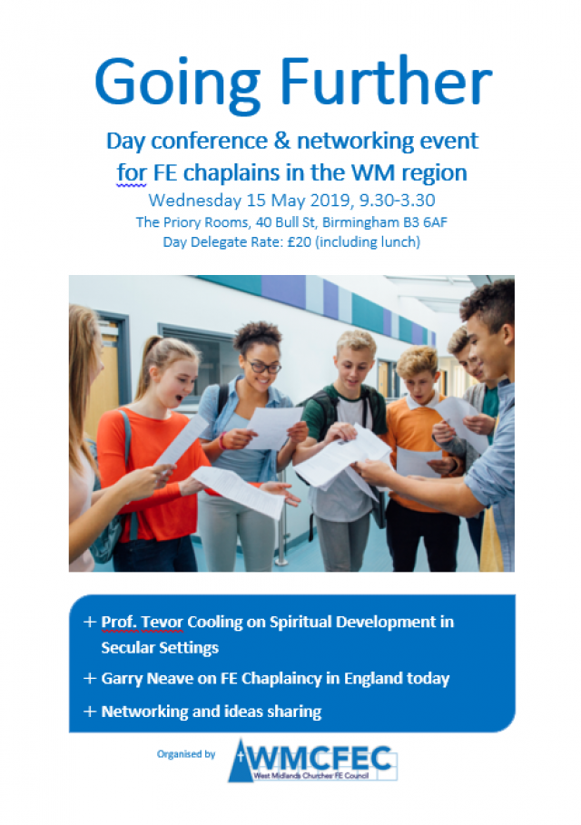 Going Further: Conference for FE Chaplains in the WM Region – 15 May 2019